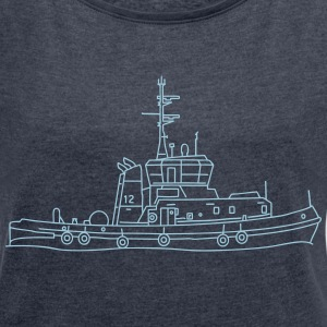 Tug or towing boat T-Shirts - Women's T-shirt with rolled up sleeves