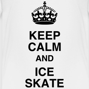 skøjteløb is skater sport atlet atletisk T-shirts - Teenager premium T-shirt
