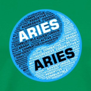 Aries and Aries Zodiac Sign Man Love Mug - Men's Premium T-Shirt