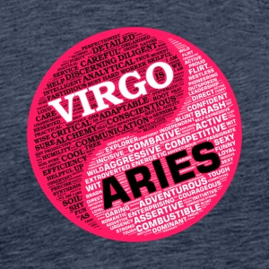 Virgo and Aries Zodiac Sign Woman Love Mug - Men's Premium T-Shirt