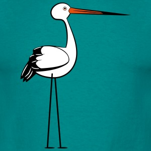 storch stilisiert design  T-Shirts - Männer T-Shirt