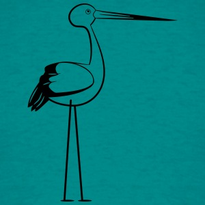 stork stiliseret design T-shirts - Herre-T-shirt