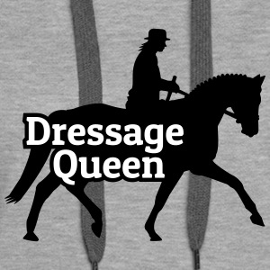 Dressage Queen reine de dressage Sweat-shirts - Sweat-shirt à capuche Premium pour femmes