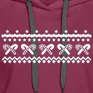 christmas candy canes kerstmis candy canes Sweaters - Vrouwen Premium hoodie