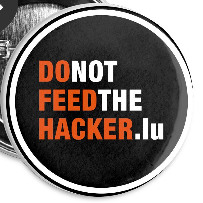 Do not feed the Hacker! (Black S)