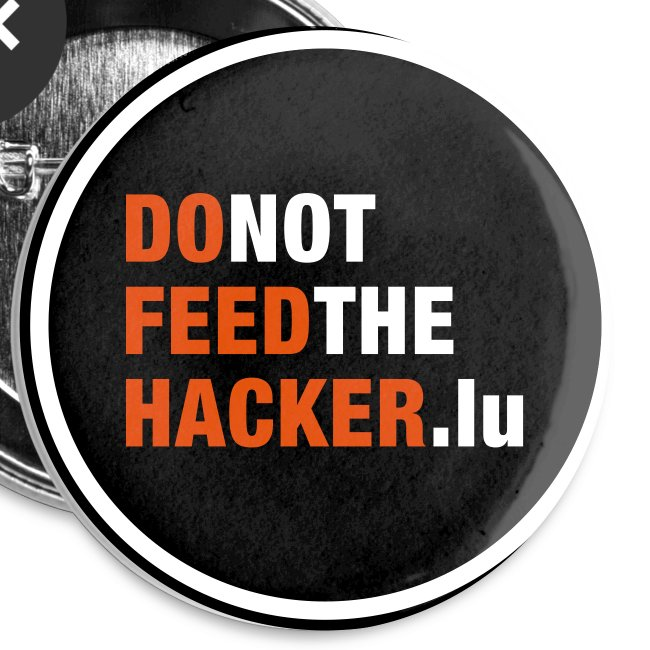 Do not feed the Hacker! (Black M)