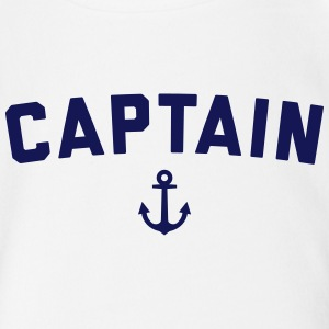 Captain Nautical Quote  Baby Bodysuits - Organic Short-sleeved Baby Bodysuit