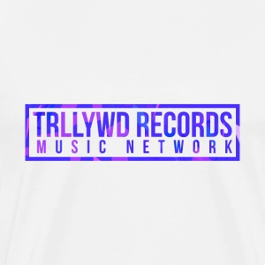 TRLLYWD Records | Purple Pink | White Shirt - Männer Premium T-Shirt