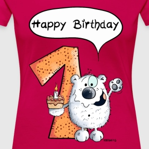 Happy Birthday Bär T-Shirts - Frauen Premium T-Shirt