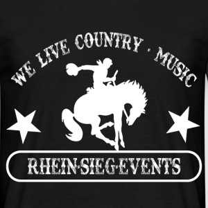 2We_live_Country_Music.png T-Shirts - Männer T-Shirt