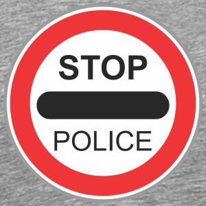 Road sign Stop police - Men's Premium T-Shirt
