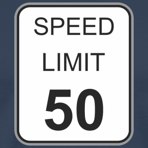 Road sign speed limit 50 - Men's Premium T-Shirt