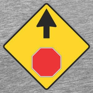 Road Sign Up and red sign - Men's Premium T-Shirt