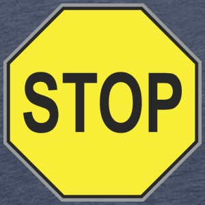 Road sign yellow stop - Men's Premium T-Shirt