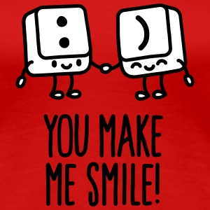 You make me smile T-shirts - Vrouwen Premium T-shirt