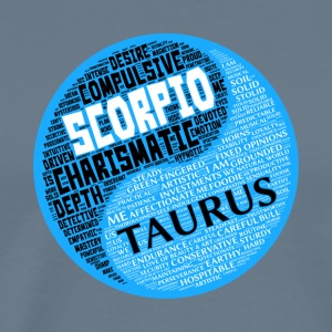 Scorpio and Taurus Zodiac Sign Man Love Mug - Men's Premium T-Shirt