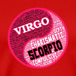 Virgo and Scorpio Zodiac Sign Woman Love Mug - Men's Premium T-Shirt