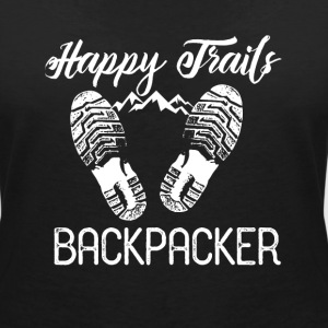 Backpacker Travel Camisetas - Camiseta con escote en pico mujer