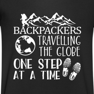 Backpacker Travel Magliette - Maglietta da uomo con scollo a V