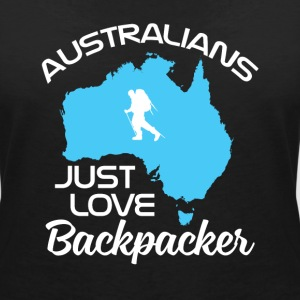 Backpacker Travel T-shirts - Vrouwen T-shirt met V-hals