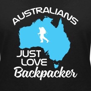 Backpacker Travel T-Shirts - Frauen T-Shirt mit V-Ausschnitt