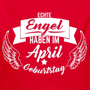 APRIL GEBURTSTAG ENGEL Baby Bodys - Baby Bio-Langarm-Body