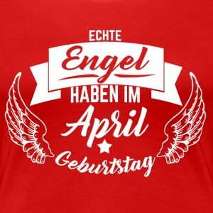 APRIL GEBURTSTAG ENGEL T-Shirts - Frauen Premium T-Shirt