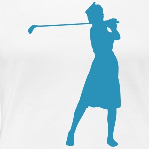 Golf retro T-Shirts - Frauen Premium T-Shirt