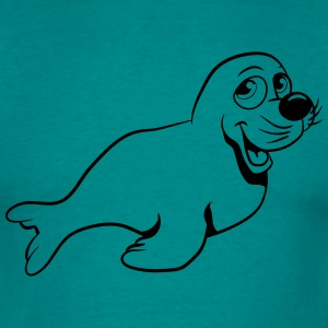 Seehund sweet play T-Shirts - Men's T-Shirt