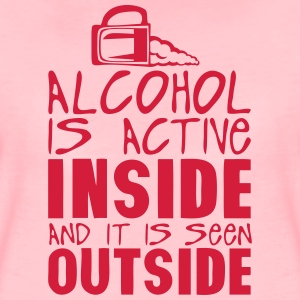alcohol active inside seen outside  T-Shirts - Women's Premium T-Shirt