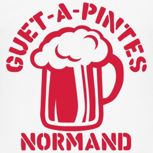 guet a pintes normand alcool humour bier Tee shirts - Tee shirt près du corps Homme