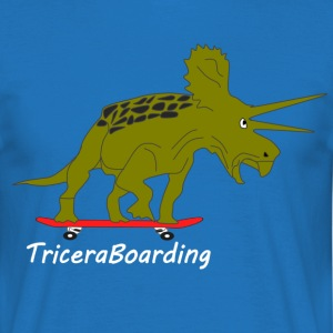 triceraBoarding - Men's T-Shirt