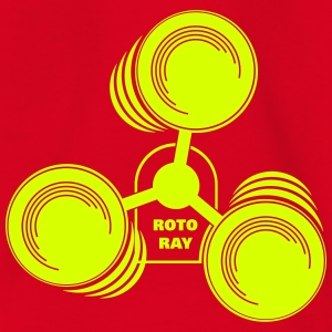 Roto Ray for neon printed 1-colored T-Shirts - Kinder T-Shirt