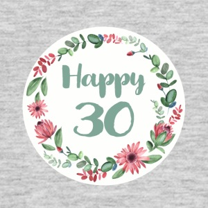 happy_30_flower_1 T-Shirts - Men's T-Shirt