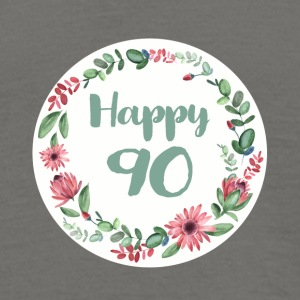 happy_90_flower_1 T-Shirts - Männer T-Shirt