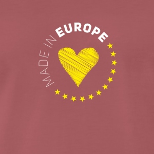made in Europe love EU europa no brexit euro stern - Männer Premium T-Shirt