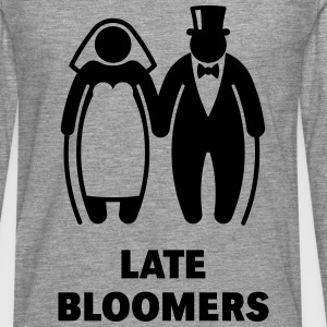 Late Bloomers (Mature Couple / Wedding) Long sleeve shirts - Men's Premium Longsleeve Shirt