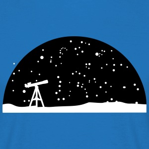 Astronomie, Telescope and stars T-Shirts - Men's T-Shirt