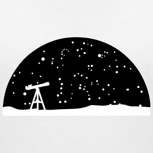 Astronomie, Telescope and stars T-Shirts - Women's V-Neck T-Shirt