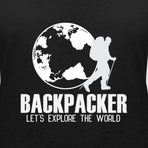 Travel Backpacker T-shirts - Vrouwen T-shirt met V-hals