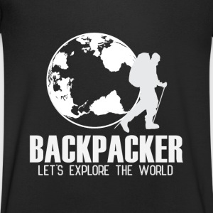 Travel Backpacker Camisetas - Camiseta de pico hombre