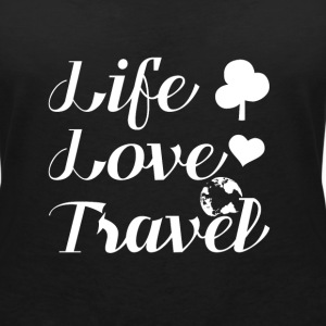 Travel Backpacker T-Shirts - Frauen T-Shirt mit V-Ausschnitt