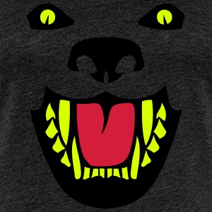 Fierce dog open mouth 112 T-Shirts - Women's Premium T-Shirt