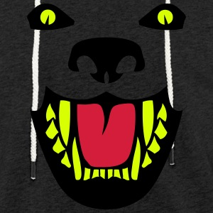 Fierce dog open mouth 112 Hoodies & Sweatshirts - Light Unisex Sweatshirt Hoodie