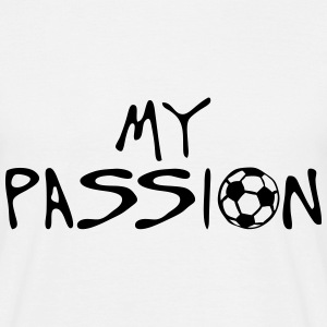 soccer football my passion citation spor Tee shirts - T-shirt Homme
