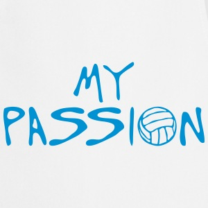 volleyball waterpolo my passion quote  Aprons - Cooking Apron
