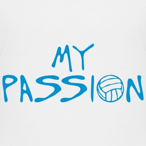 volleyball waterpolo my passion quote Shirts - Teenage Premium T-Shirt