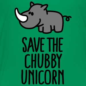 Save the chubby unicorn Skjorter - Premium T-skjorte for tenåringer