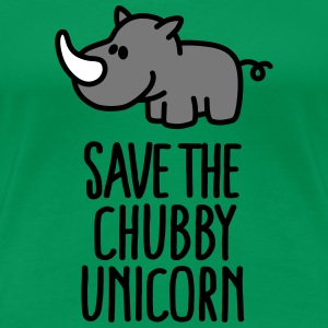 Save the chubby unicorn T-Shirts - Women's Premium T-Shirt