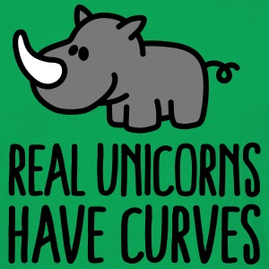 Real unicorns have curves T-shirts - Mannen T-shirt